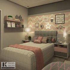 "1,483 Me gusta, 39 comentarios - DANIEL KROTH Arquitetura (@danielkroth) en Instagram: ""Projeto para Dormitório de menina com pantones rosas e tons de cinza #danielkrotharquitetura…"""