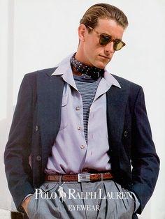 Timeless S T Y L E ~ Brand: Ralph Lauren Polo evewear Season: Spring/Summer 1991 Model(s): Tim Easton, Andrew Smith Ph: Bruce Weber