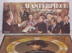 Masterpiece: The Art Auction Game! Vintage 1970 Parker Brothers Board Game   Visit us at www.facebook.com/RedRocketRetro