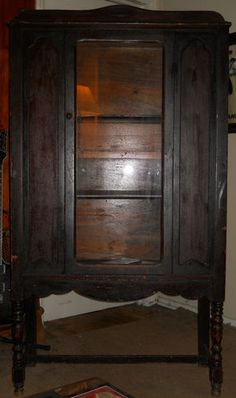 Antique Wooden Cabinet~China Cabinet-Armoire-Hutch~Late 1800s to Early 1900s