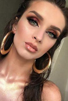 wedding makeup 2019 gold burgundy eyes with arrows zolotashkomakeup - Prom Makeup Black Girl Glam Makeup, Makeup Art, Hair Makeup, Makeup Trends, Makeup Inspo, Makeup Goals, Makeup Tips, Makeup Ideas, Makeup Stuff