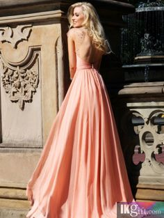 Sexy Criss Cross Halter Sheer Beaded Cap Sleeve Long Evening Gowns A-Line Backless Floor-Length Chiffon Prom Dresses