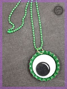 Kids Halloween Jewelry Craft | Bottle Cap Co Craft Blog | Holiday Crafts Ideas for Kids