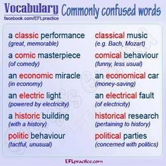 Forum | ________ Learn English | Fluent LandVocabulary: Commonly Confused Words | Fluent Land