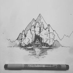 Super Ideas For Nature Drawings Pencil Sketches Illustrations Cool Drawings, Drawing Sketches, Stylo Art, Natur Tattoos, Desenho Tattoo, Pen Art, Art Inspo, Painting & Drawing, Amazing Art