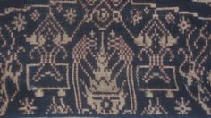 part of a Balinese geringsing double ikat textile, motif Candi   www.kulukgallery.com