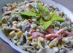 Sałatka ze smażonymi pieczarkami Cabbage, Grains, Salads, Rice, Chicken, Meat, Vegetables, Food, Essen