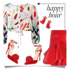 """""""Louboutin"""" by tina-pieterse on Polyvore featuring Alexander McQueen, Mara Hoffman, Christian Louboutin, J.Crew and happyhour"""