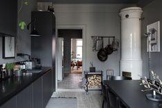Gravity Home: Lotta Agaton's Grey Home in Stockholm