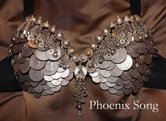 Tribal Fusion ATS Bellydance Coin Bra by NhazamaTribalDesigns, $143.00