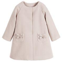 Paz Rodriguez - Girls Beige Coat | Childrensalon