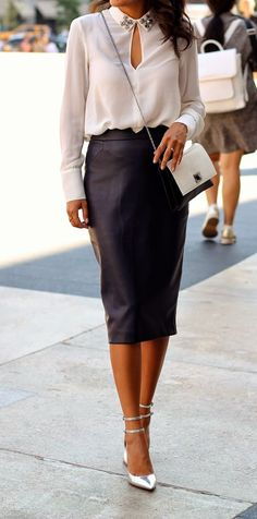 leather pencil skirt for fall