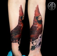 1st Session on Cardinal Coverup // by Nick Hart (me) at Deep Roots Tattoo // Seattle, WA