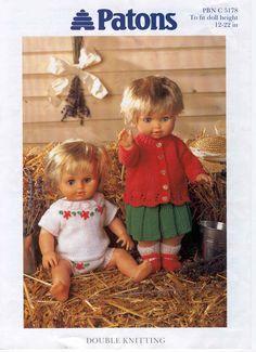 Album Archive - best of friends Knitting Dolls Clothes, Baby Doll Clothes, Crochet Doll Clothes, Doll Clothes Patterns, Clothing Patterns, Knitted Doll Patterns, Knitted Dolls, Baby Knitting Patterns, Baby Patterns