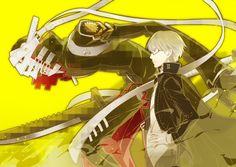 Tags: Fanart, Shin Megami Tensei: PERSONA 4, Narukami Yu, Pixiv, Izanagi, Kazune, Fanart From Pixiv
