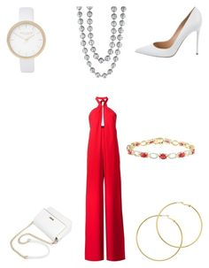 """""""Halter jumper"""" by bethanyyk on Polyvore featuring Misha Nonoo, Gianvito Rossi, River Island, Melissa Odabash and Effy Jewelry"""
