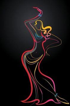 361d732682e76 11 Best T-shirt images | Silhouettes, Black silhouette, Dance silhouette