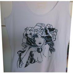 tshirt donna in un solo colore- dipinto a mano, by Laboratorio Elisa Villalba, 15,00€ su misshobby.com