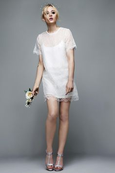 Not just for weddings: short lace wedding dress by Richard Nicoll Bridal for Topshop