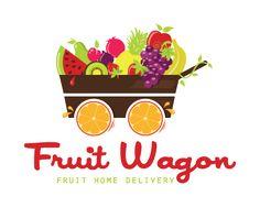 Logo Design - Fruit Wagon Home Delivery Service Dinner Recipes For Kids, Kids Meals, Fruit Delivery, Fruit Logo, Fruit Shop, Fruit Decorations, Fruit Smoothies, Fruit Fruit, Fruit Party