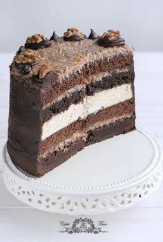Tort brownies ,ciasto czekoladowe, sernik i krem kokosowy