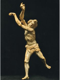 The Saint Sebastian,by Jacobus Agnesius ca 1638   San Sebastian was a roman soldier who was a secretly christian and was killed for his faith in 288  This sculpture es valued in 4.75 million!!