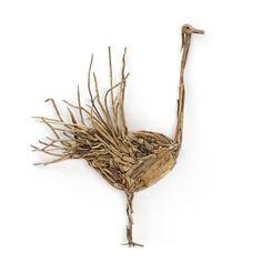 Fly Away Bird Natural Driftwood Statue