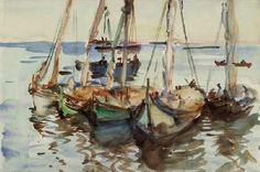 John Singer Sargent Portuguese Boats, Ca. 1903