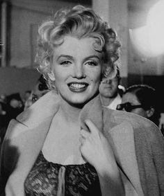 """Marilyn on the set of """"Bus Stop"""". Photo by Bob Beerman, 1956."""