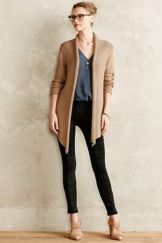 Hickory Trail Cardigan, I like this sweater style and the outfit together - anthropologie.com