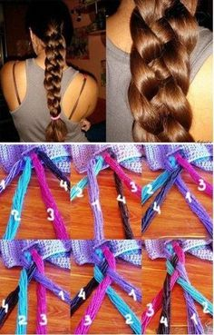 Four Strand Braid Hairstyle