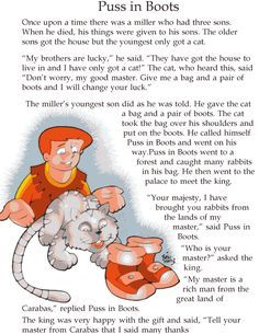 Grade 2 Reading Lesson 10 Fairy Tales Puss In Boots 1 English Stories For Kids, Moral Stories For Kids, Short Stories For Kids, English Story, Reading Stories, Learn English, Children Stories, Stories With Moral Lessons, Kindergarten Reading
