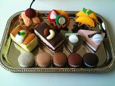 Felt food Princess teatime set by TomomoHandmade on Etsy