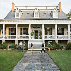 Southern home.  I adore long front porches.