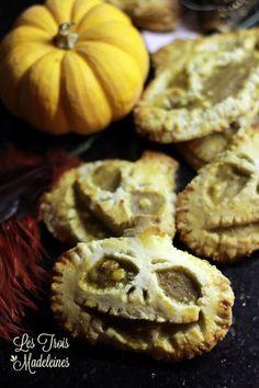 BOO! Recette de halloween: idee recette halloween. ces chaussons a la citrouille sur le theme l'etrange Noel de Monsieur Jack ( Jack o'lantern) vont vous faire fremir... Halloween recipe pumpkin spice