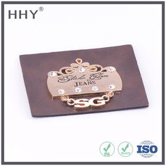 Hhy Custom Embossed Leather Label For Jeans Leather Label Photo, Detailed about…