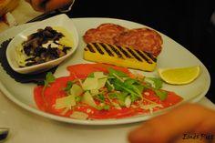 Christmas lunch!  ''osteria del 4'' restaurant  -tomino e radicchio  - polenta e salame  -carpaccio rucola e grana