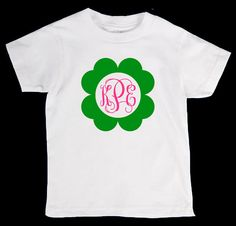 353003d73 St. Patricks Day Personliazed Monogram Name Onesie or Kid's T-Shirt - Two  Color