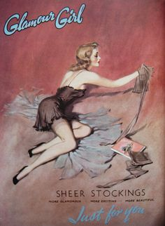 The allure of silk...Glamour Girl stockings, circa 1940s