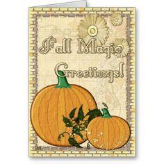 Fall Magic Folk Art Cards