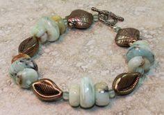Beachy Pale Blue Opal Bracelet and Sterling by ChrisKaitlynJewelry