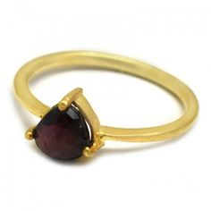 Faceted Garnet Gemstone Prong Setting Handmade Ring Latest Ring Designs, Handmade Rings, Garnet Gemstone, Fashion Jewelry, Gemstones, Bracelets, Leather, Gold, Trendy Fashion Jewelry