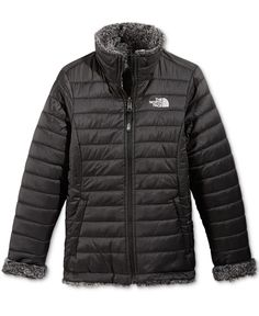 The North Face Girls  or Little Girls  Reversible Mossbud Swirl Jacket  North Face Girls 9e619d456a