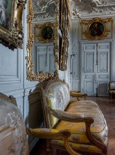 Grand cabinet de Madame Victoire, daughter of Louis XV, at Palace of Versailles Chateau Hotel, Chateau Versailles, Palace Of Versailles, French Chic, French Decor, French Style, Palace Interior, Interior And Exterior, Marie Antoinette
