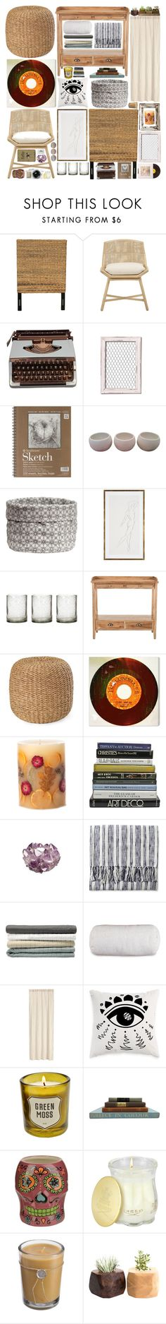 """""""Vintage Bedroom"""" by belenloperfido ❤ liked on Polyvore featuring interior, interiors, interior design, home, home decor, interior decorating, Jeffan, McGuire, Zolà and H&M"""