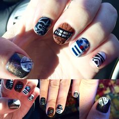 My latest nails done only by Michelle at Citris Nails in Houston! #starwars #nailart #r2d2 #darthvader #chewie #deathstar