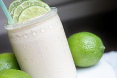 Fresh Lime Freeze -- I made this tonight with 48 oz. vanilla ice cream, juice of 4 large limes, ~2 c. Sprite, 1 tsp. vanilla + as many ice cubes as will fit in the blender.  Everyone loved it!