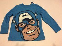Toddler Boys Polo Tee Shirt Sz 3T Old Navy Captain America Long Sleeve | eBay