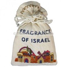 Embroidered Havdallah Spice Satchel - Fragrance of Israel