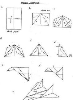 Origami Paper Plane, Origami Toys, Instruções Origami, Paper Crafts Origami, Paper Airplanes Instructions, Origami Instructions, Star Wars Origami, Paper Shaper, Airplane Crafts
